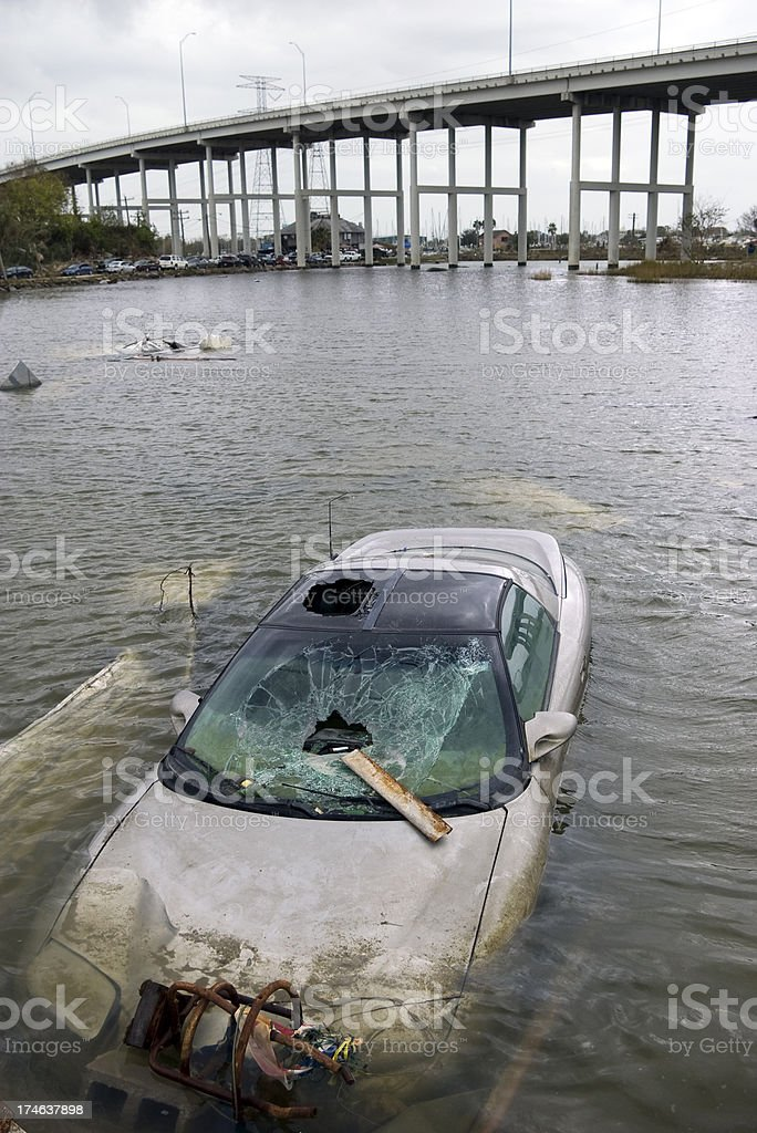 Aftermath of Hurricane Ike. stock photo