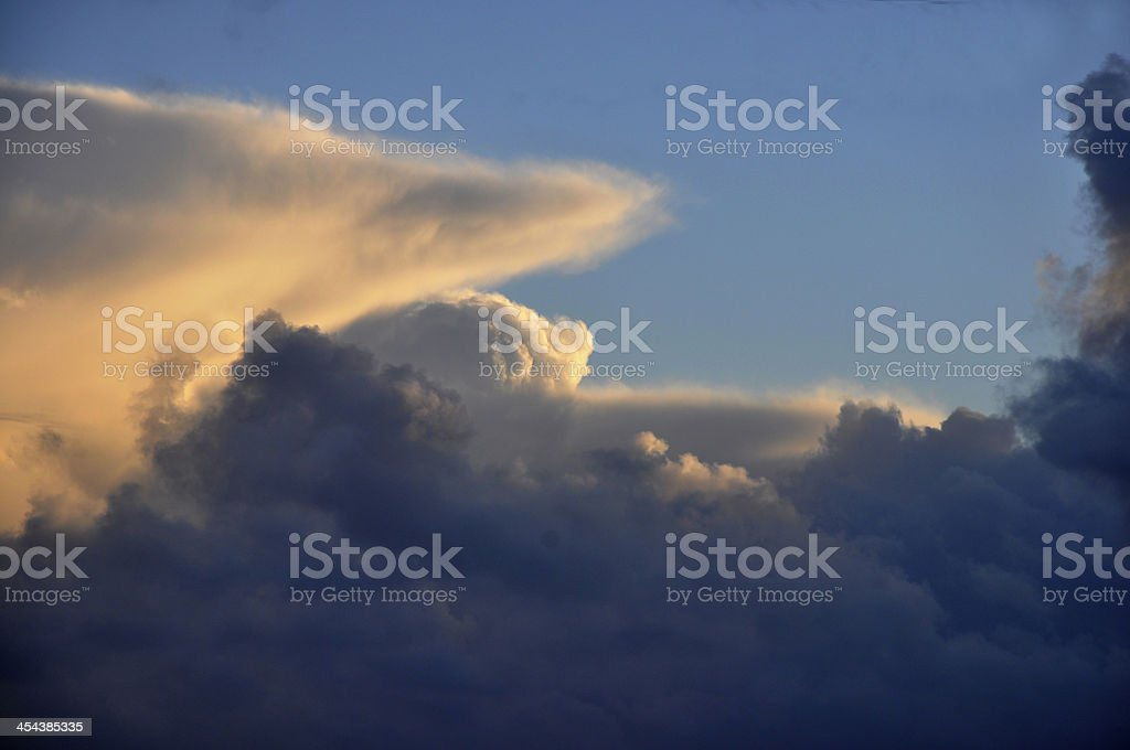 afternoon clouds royalty-free stock photo