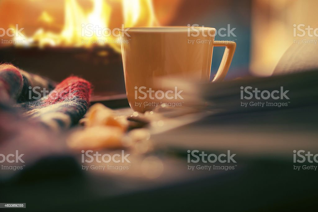 afternoon coffee stock photo