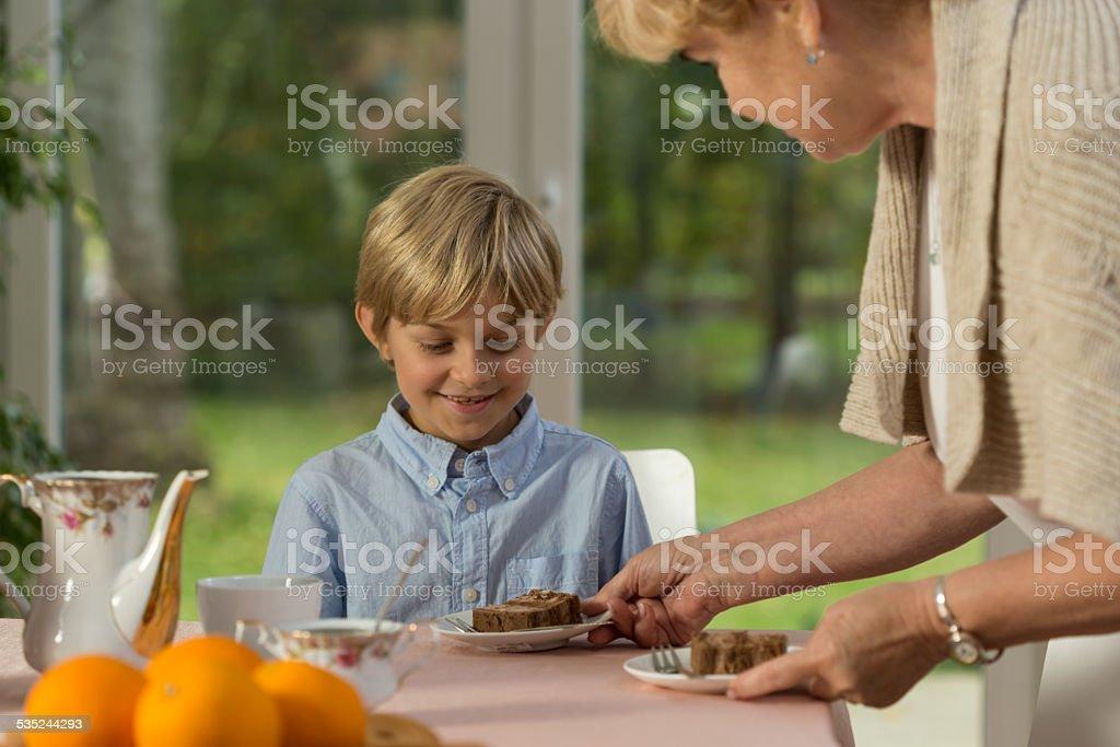 Afternoon dessert stock photo