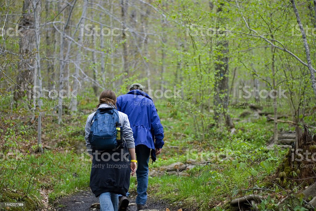 Afternoon Family Hike royalty-free stock photo
