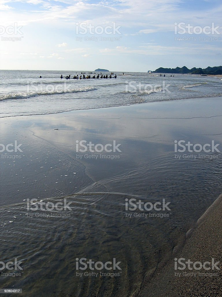 afternoon fishing beach background philippines royalty-free stock photo