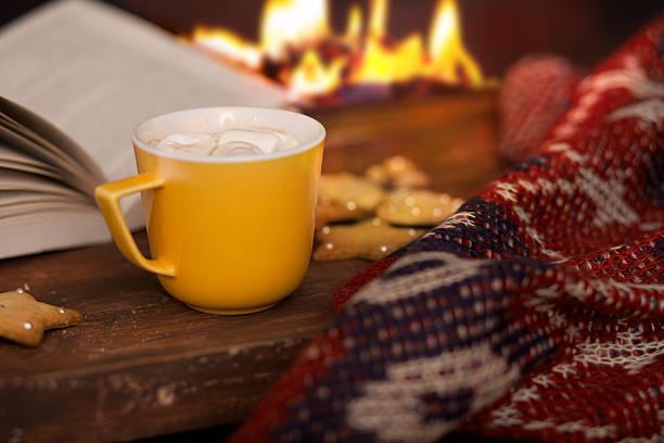 Kaffee und heiße Schokolade an Weihnachten – Foto