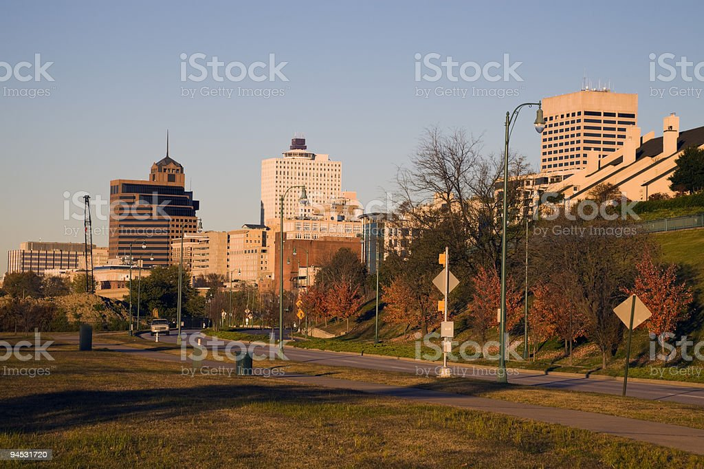Afternoon in downtown Memphis royalty-free stock photo