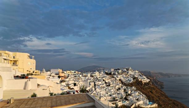 Afternoon light on Thira Santorini
