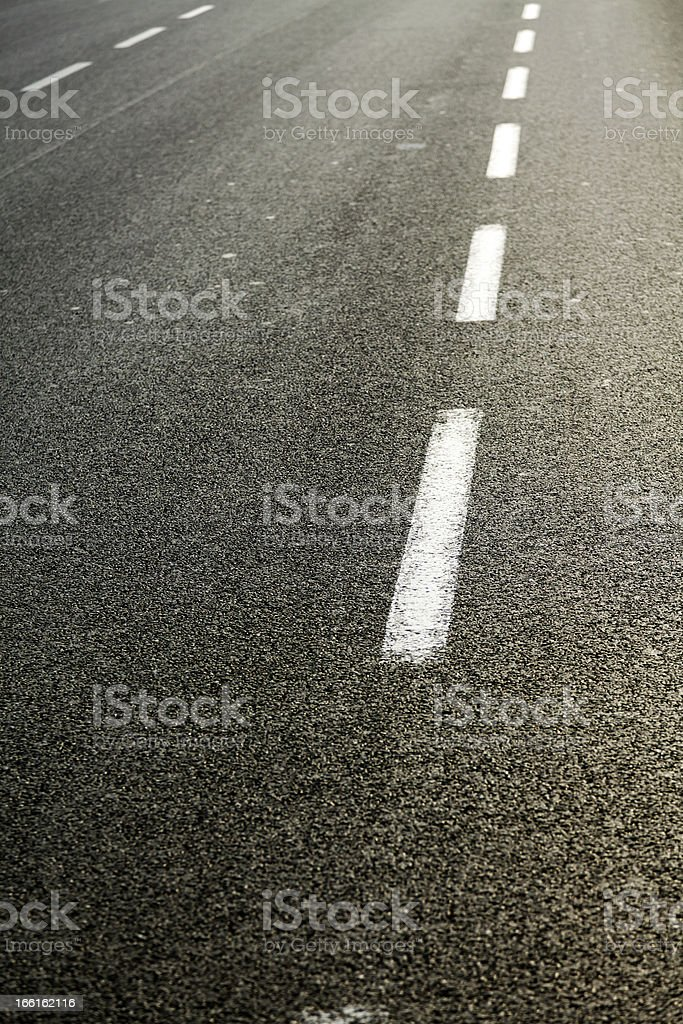 Afternoon Multiple Lane Road royalty-free stock photo