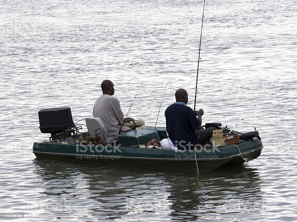 Afternoon Of River Fishing stock photo