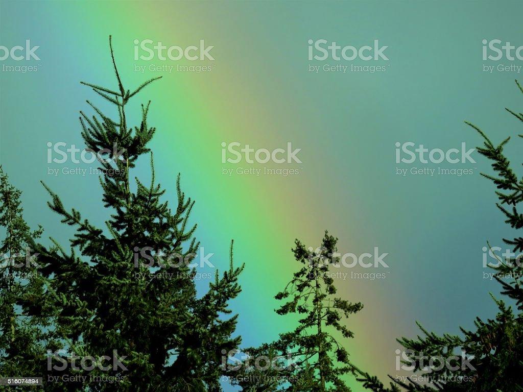 Afternoon Rainbow stock photo