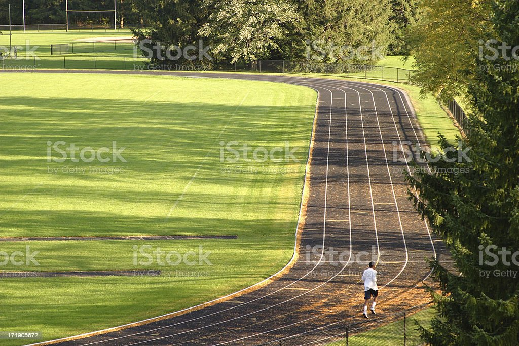 afternoon runner royalty-free stock photo