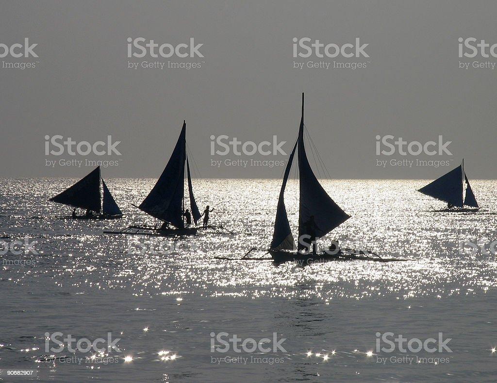 Afternoon sailing 1 royalty-free stock photo