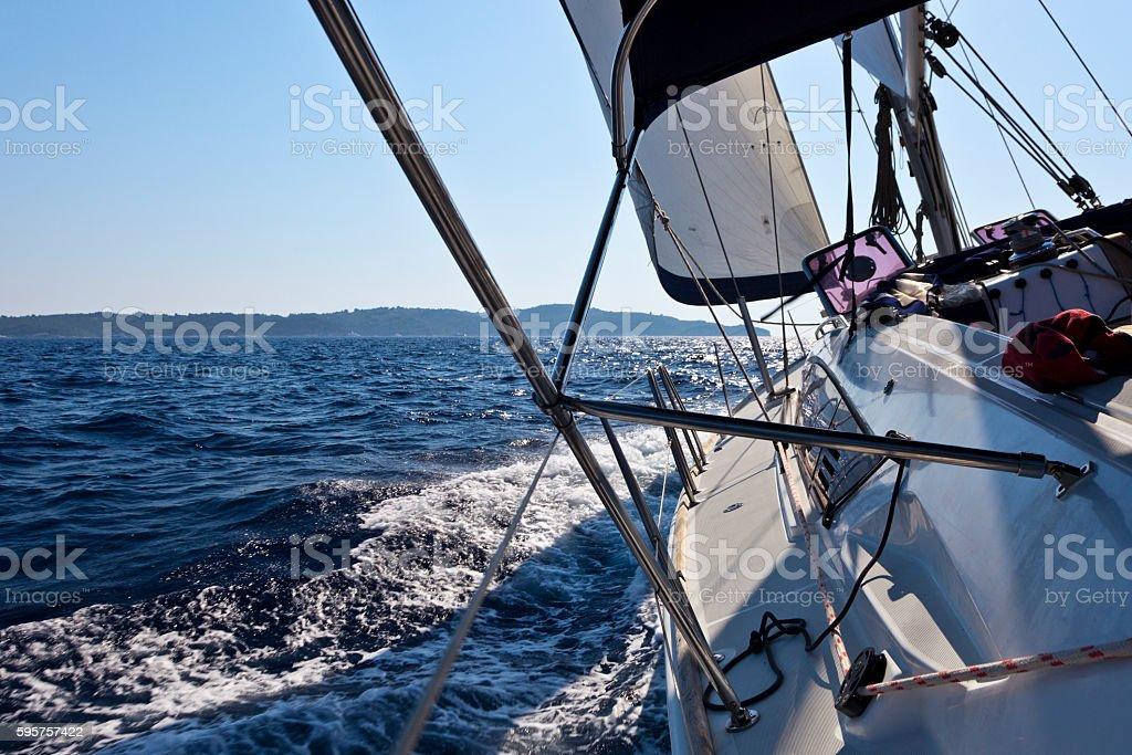 Afternoon Sailing near Corfu in the Ionian Sea stock photo