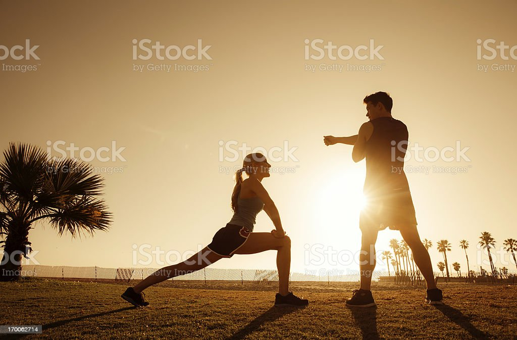 Afternoon Stretch royalty-free stock photo