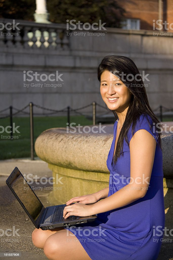 Afternoon Studying Outside royalty-free stock photo