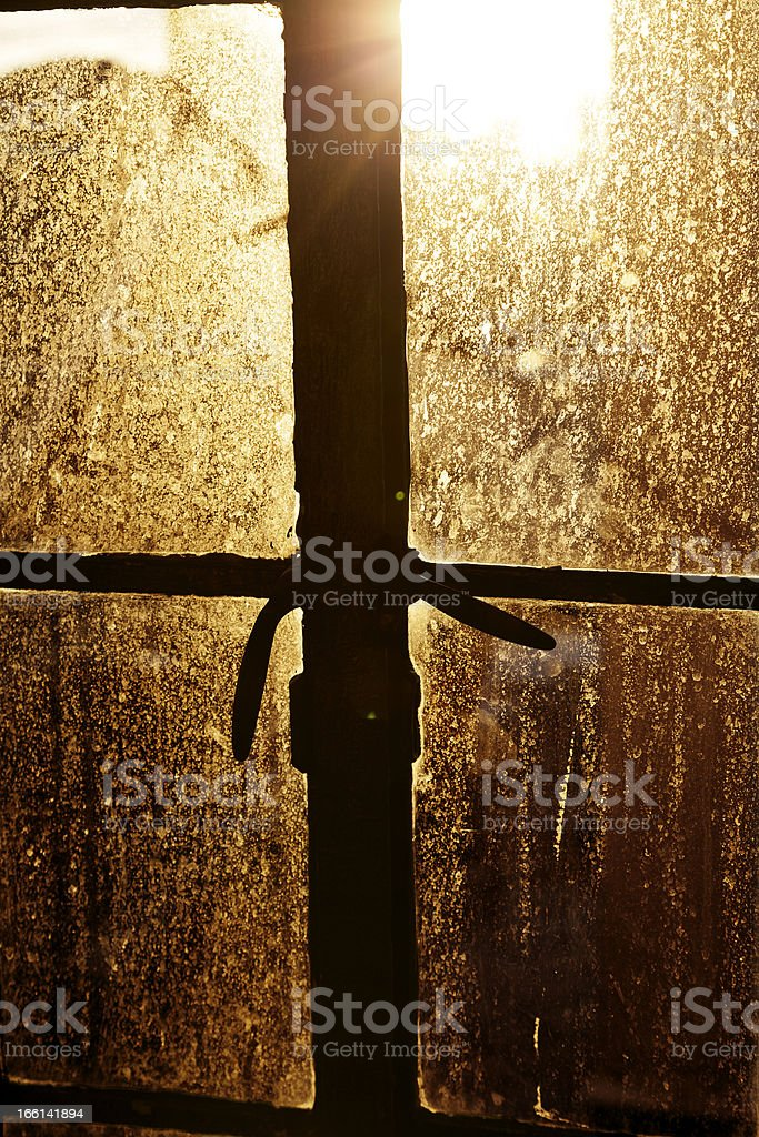 Afternoon Sun Back Lighting Stained Window royalty-free stock photo