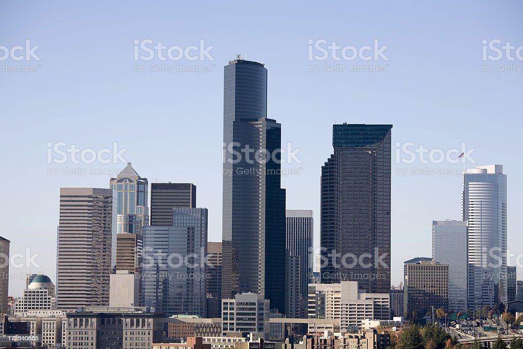 Afternoon sunny day in Seattle stock photo