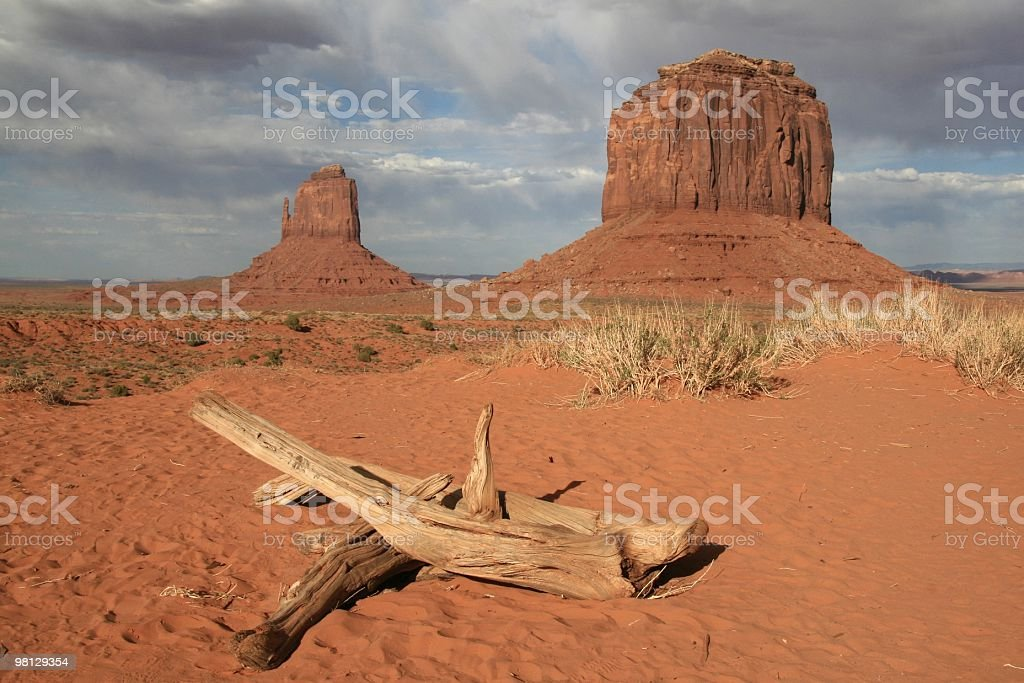 Afternoon Sunshine in Monument Valley, Arizona, Southwest USA royalty-free stock photo