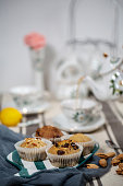 afternoon tea and homemade muffins