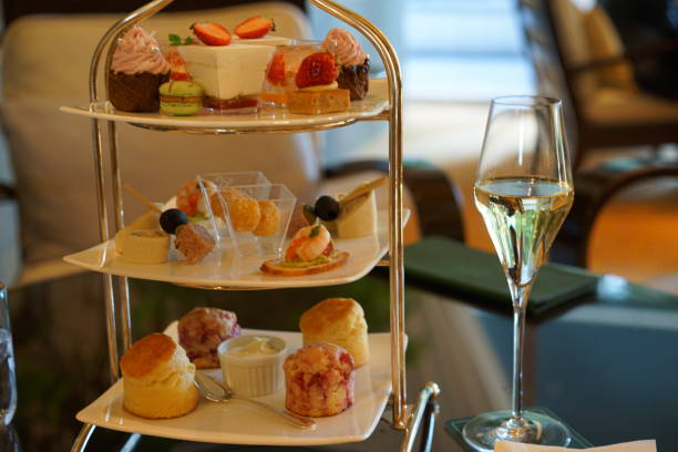 Afternoon tea in Tokyo stock photo