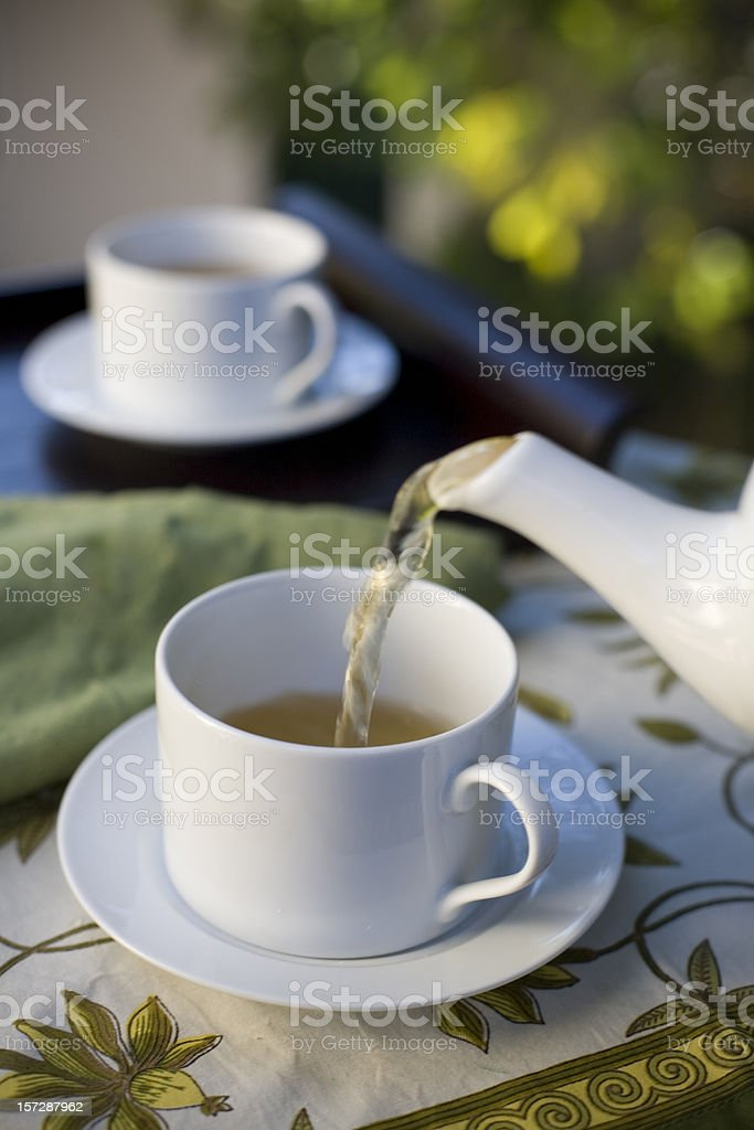 afternoon tea out on the porch royalty-free stock photo