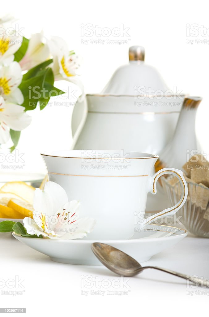 Afternoon tea stock photo