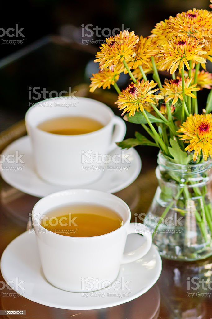 Afternoon tea. royalty-free stock photo