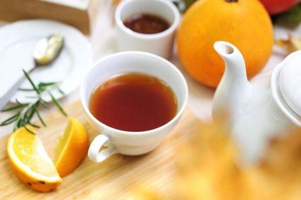 Nachmittags-Tee. Entspannen Sie sich mit Tee – Foto
