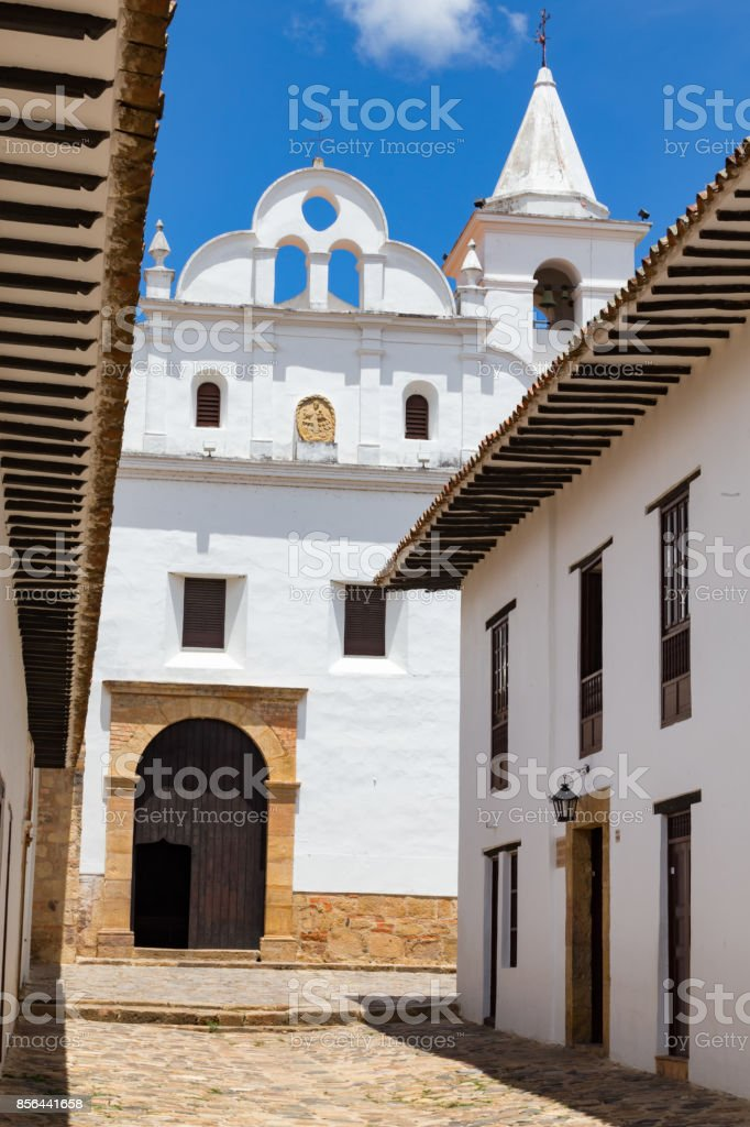 Afternoon view of Church and convent of San Francisco stock photo