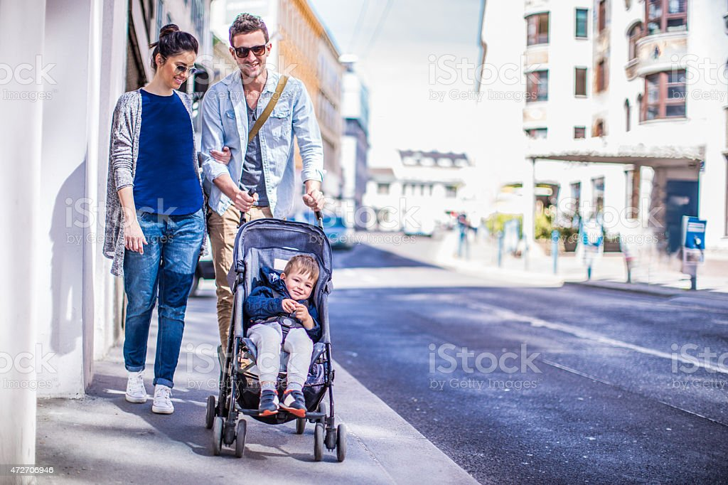 Afternoon walk - Royalty-free 12-17 Months Stock Photo