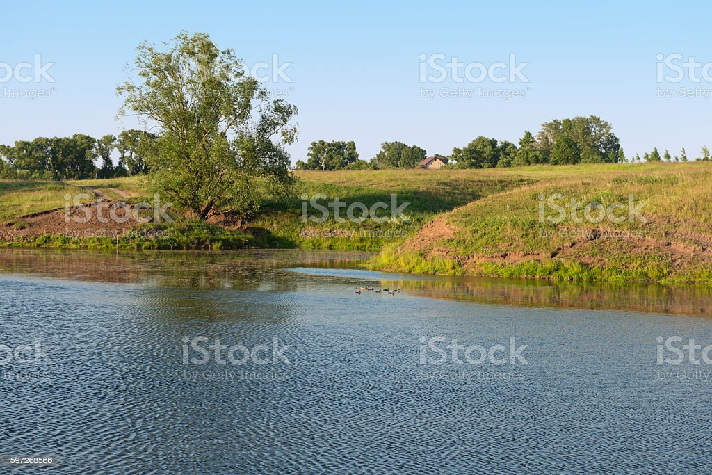 afternoons on the lake royalty-free stock photo