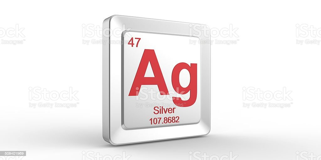 Ag Symbol 47 Material For Silver Chemical Element Stock Photo More