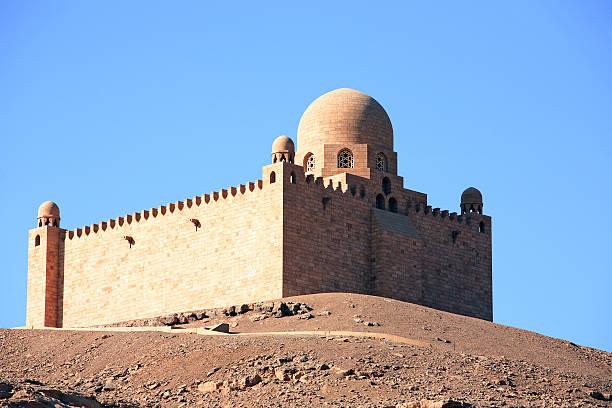 aga khan tomb - mausoleum stockfoto's en -beelden