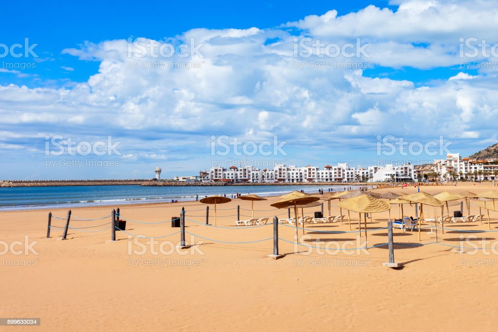Agadir stad, Marokko foto