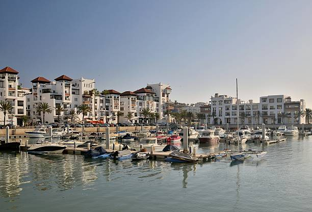 Calle de Agadir Marina en la mañana - foto de stock