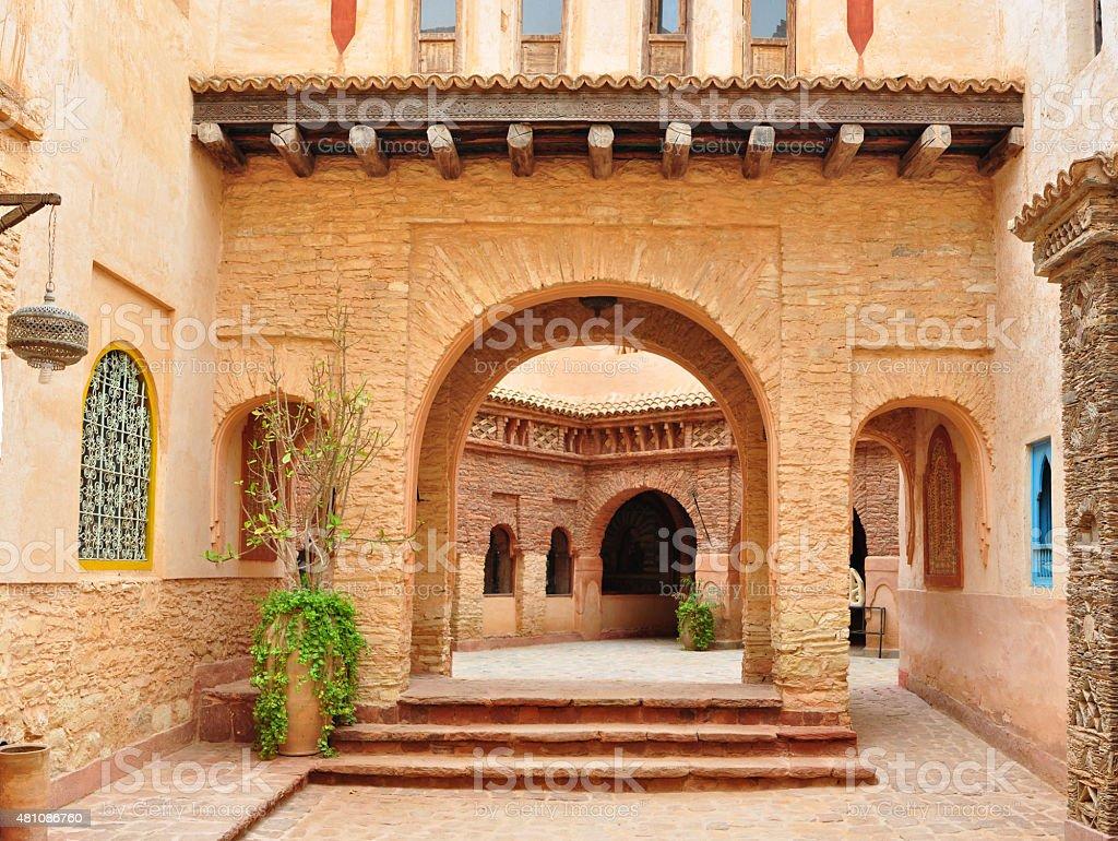 agadir medina archway stock photo