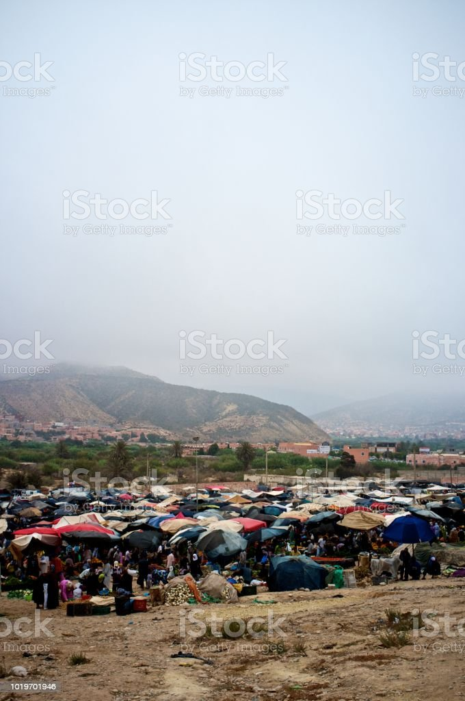 Agadir Morocco Jun 20 2014 Small Town Sunday Market For Fresh Produce Stock Photo Download Image Now Istock