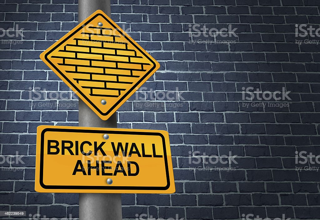 Against A Brick Wall stock photo
