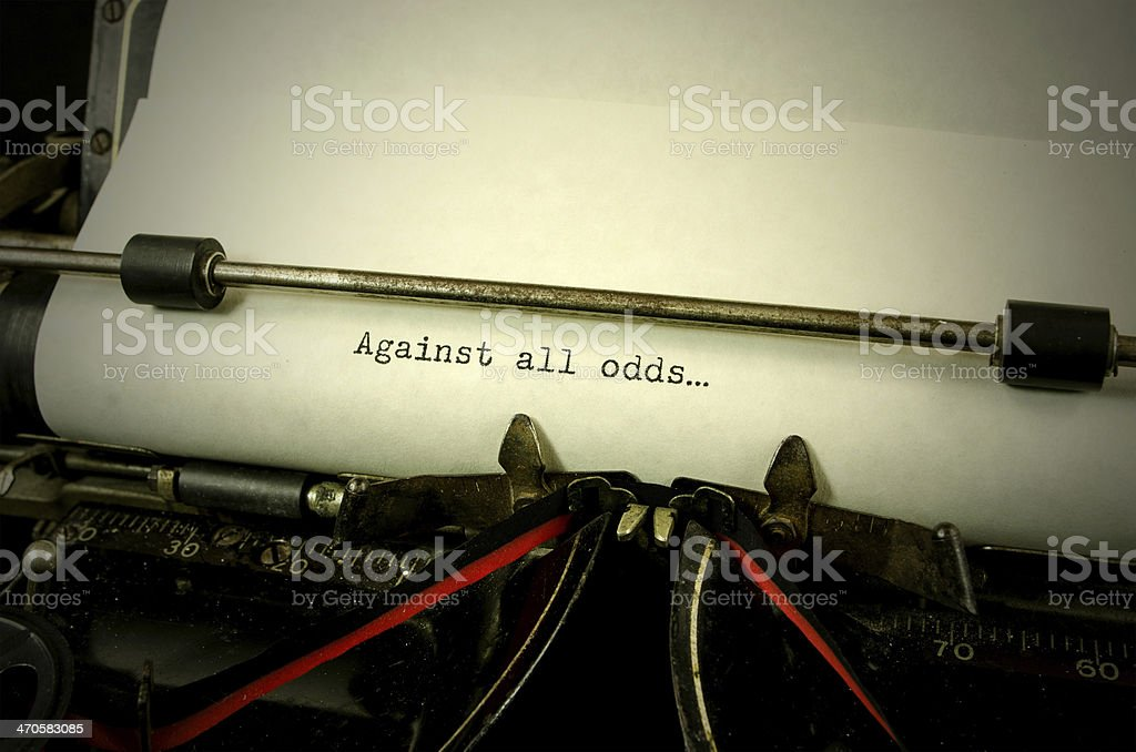 Against all Odds royalty-free stock photo