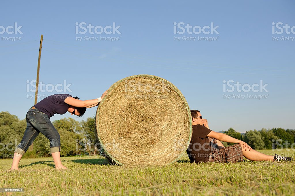 Against the obstacle royalty-free stock photo