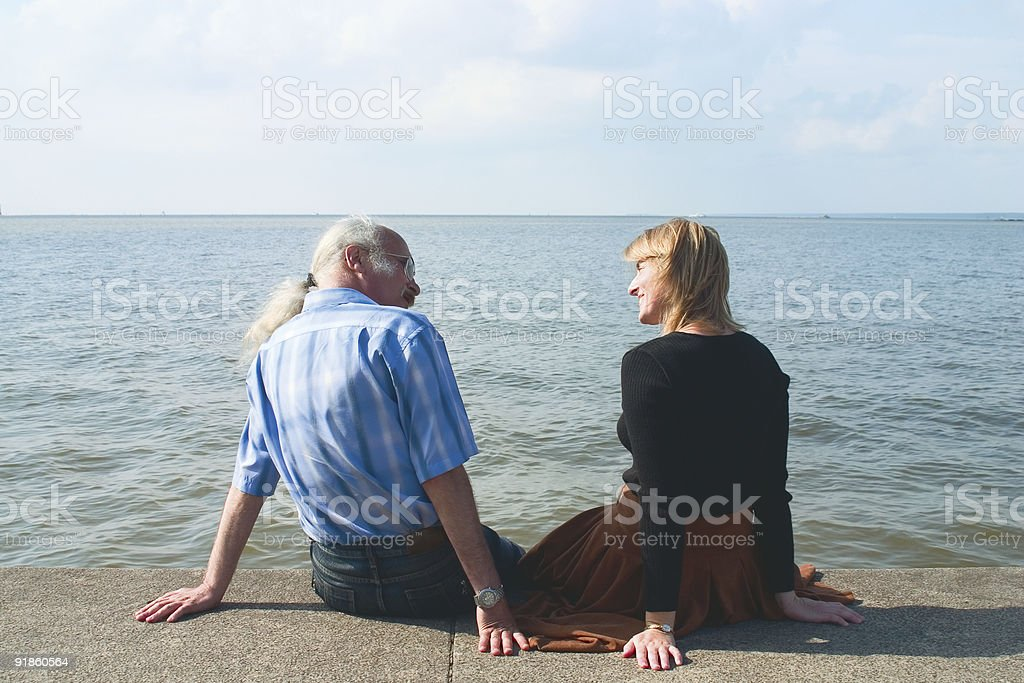 Against the sea royalty-free stock photo
