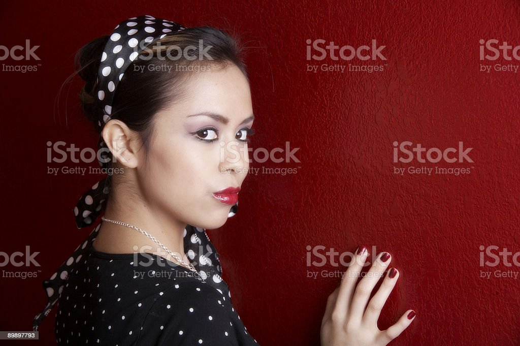 Against the wall royalty-free stock photo