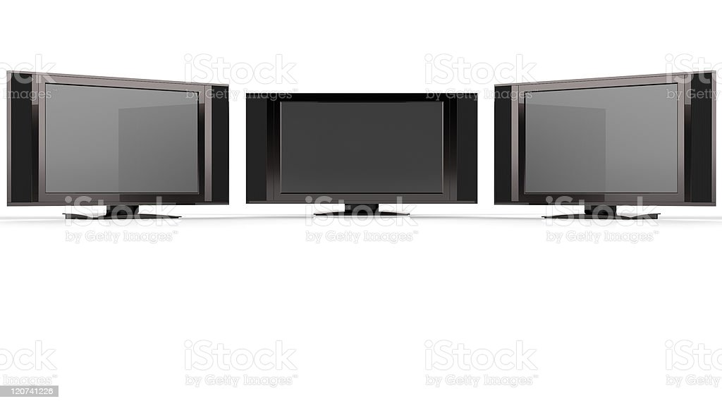 LCD TV against white royalty-free stock photo