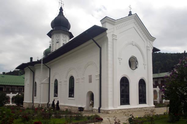 Agapia Monastery, Romania stock photo