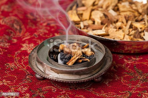 istock Agarwood incense chips 880466312