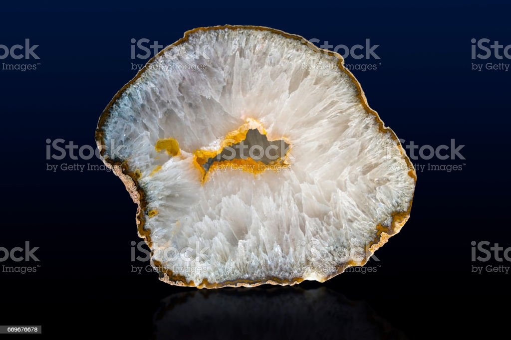 Agate mineral sample stock photo