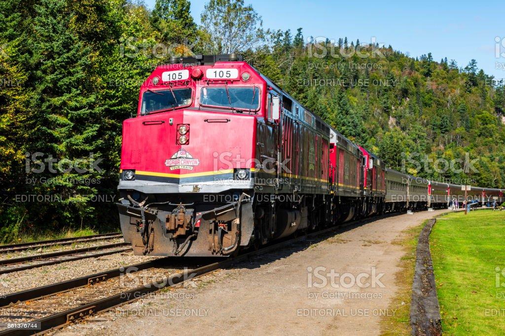 Agawa Canyon Tour Train stock photo