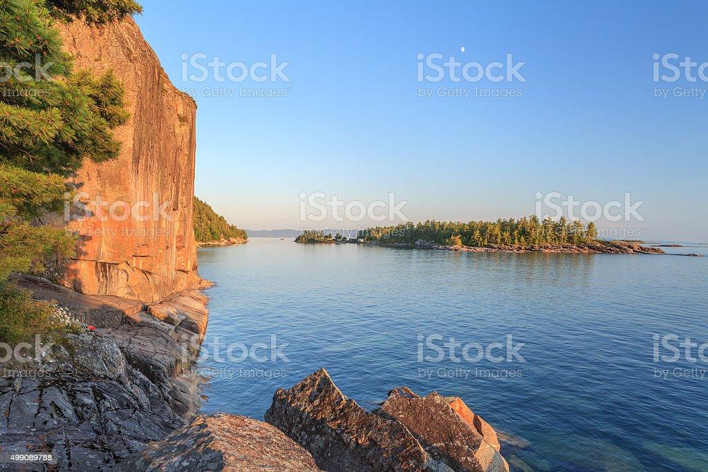 Agawa Rocks stock photo