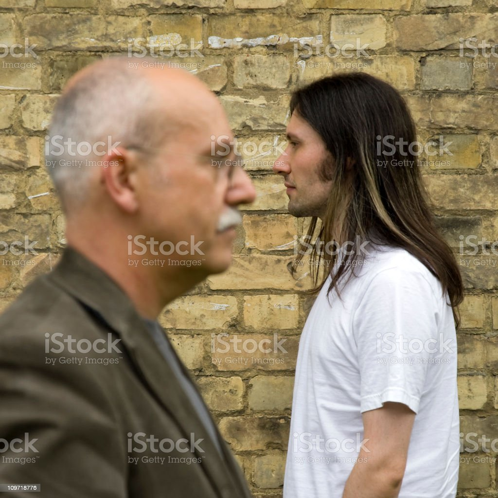 Age and youth royalty-free stock photo
