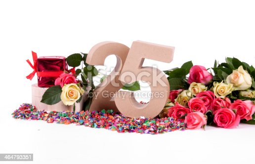 178269167istockphoto Age in figures, decorated with roses 464793351