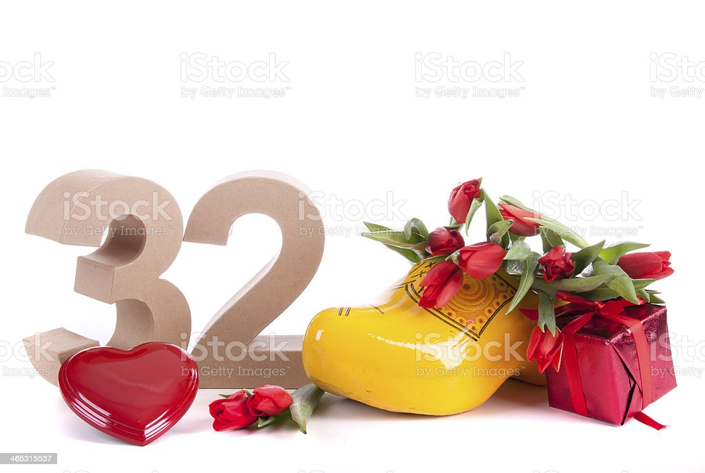 Age in numbers and a party mood stock photo