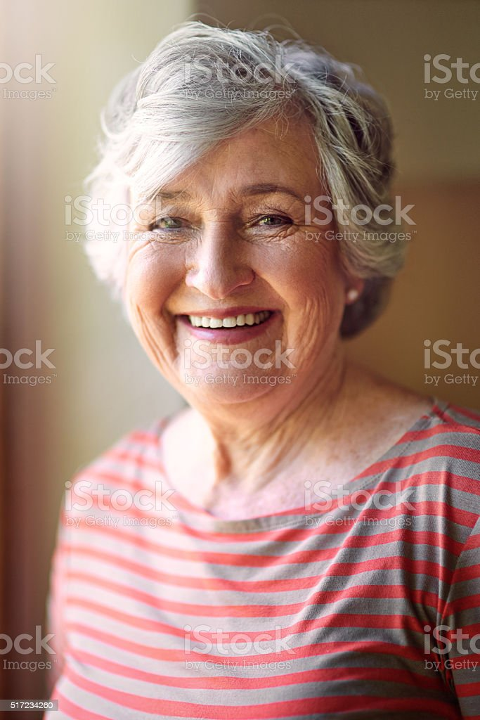 Age is a matter of feelings, not years stock photo